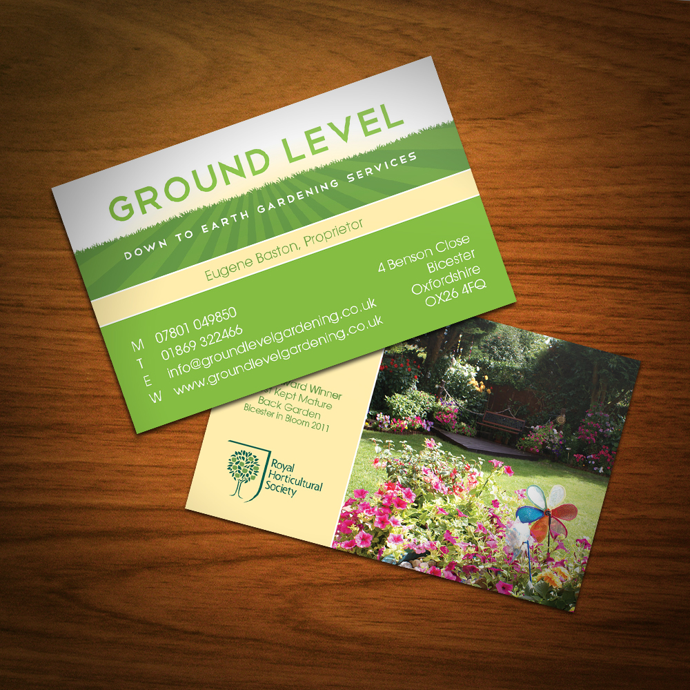 Alisongraphics business cards for Gardening business cards