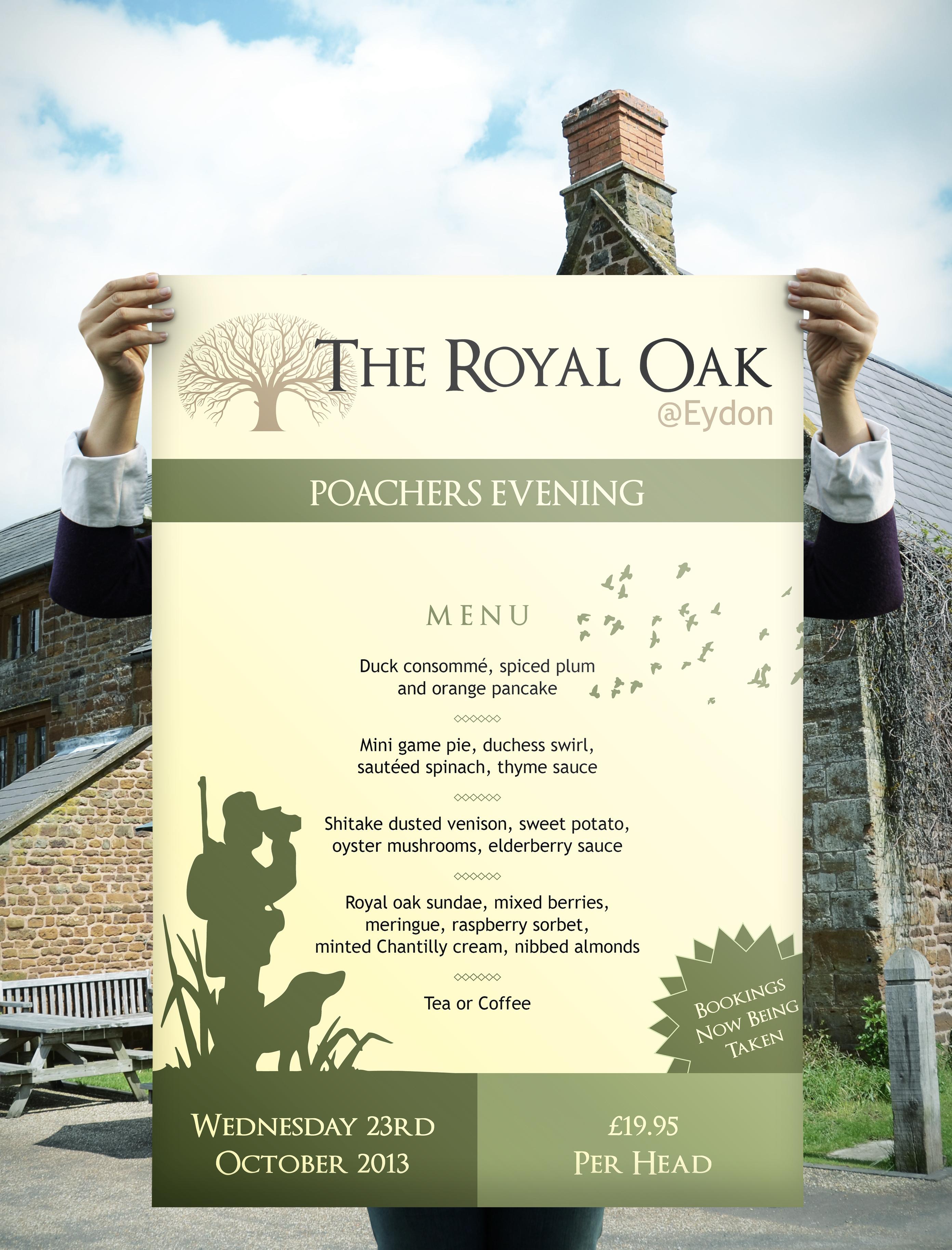 Poster - Pub Poachers Evening