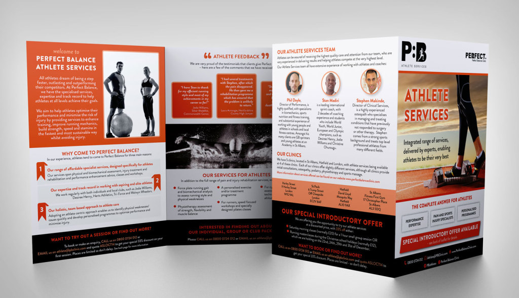 Athlete Fitness Services Flyer/Brochure