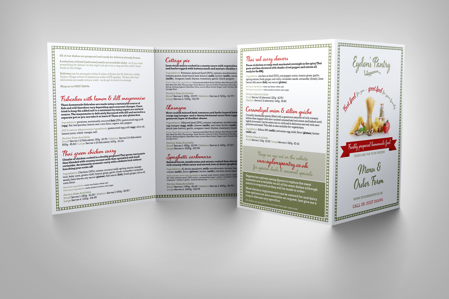 Brochure Design - Eydon's Pantry - Food