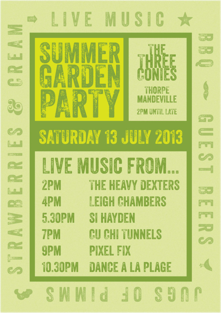 201306_006_Poster_TheeConiesSummerParty_A3
